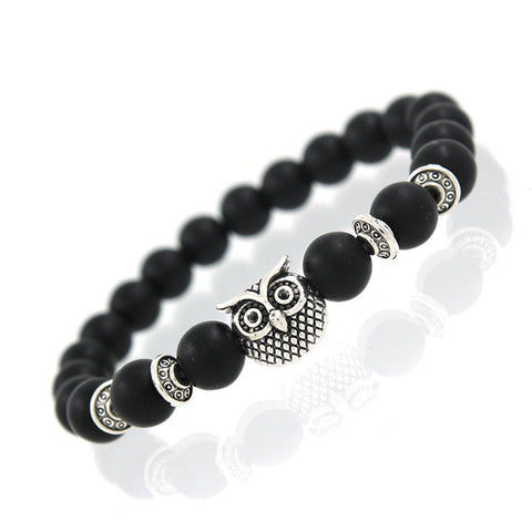 "Image of ""Night Owl"" Natural Stones Beads Bracelet"