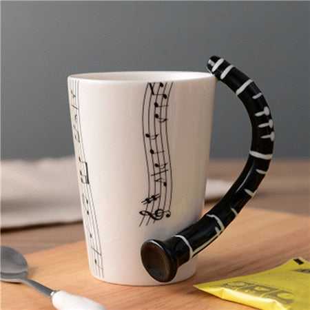 Image of Novelty Guitar Ceramic Cup