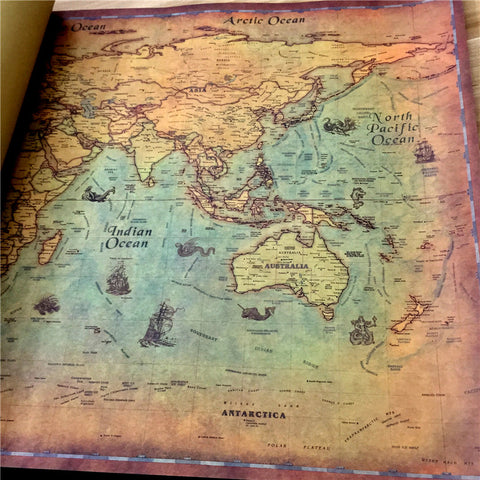 Image of Nautical Ocean Sea World Map