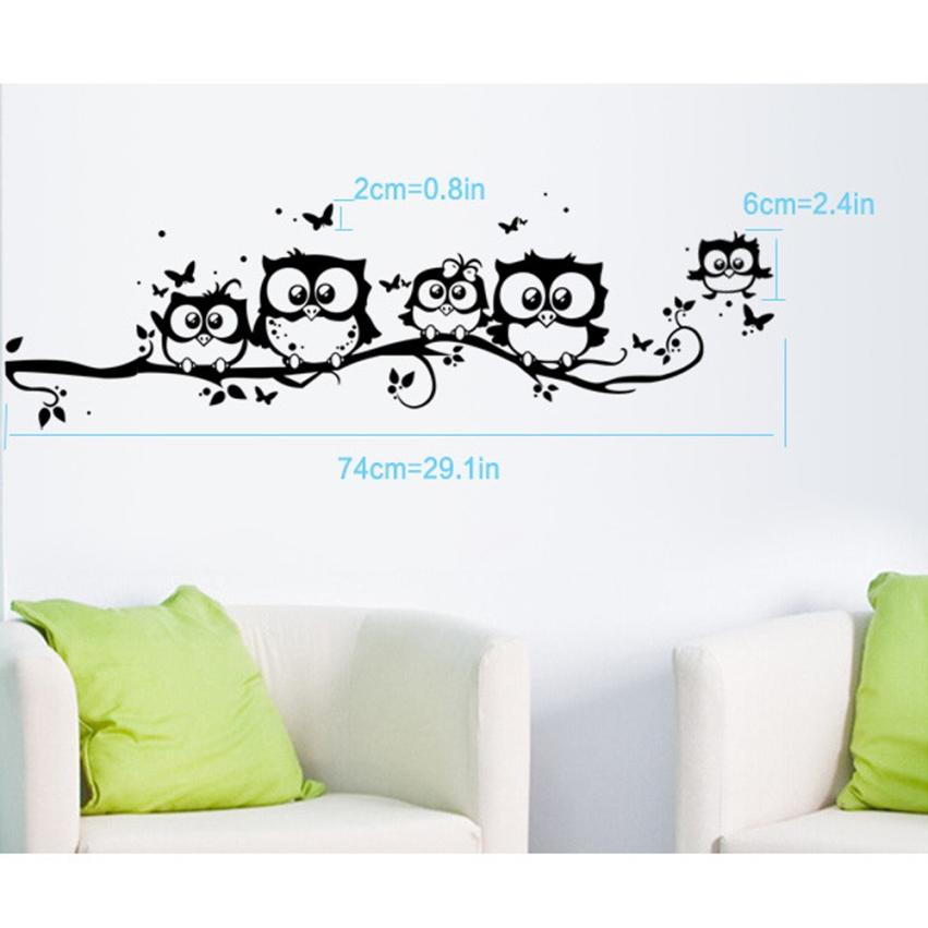 Bedroom Owl Butterfly Wall Stickers