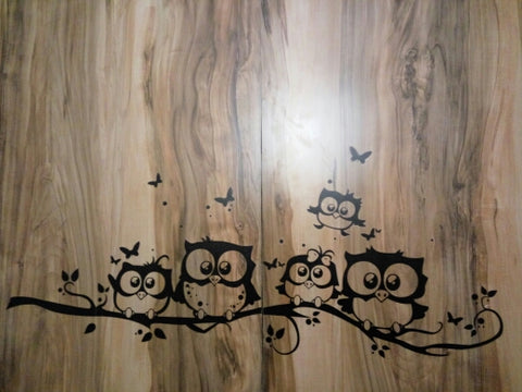 Image of Bedroom Owl Butterfly Wall Stickers