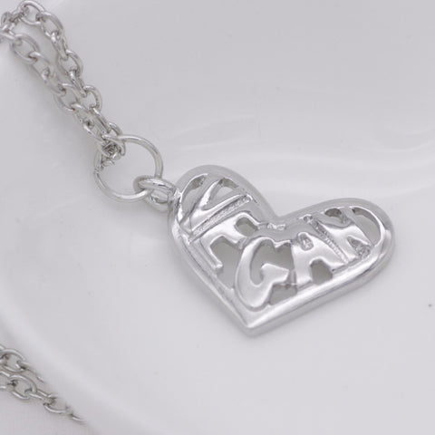 "Image of ""Vegan Heart"" Pendant Necklace"