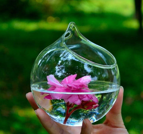 "Image of Glass Mini Vase ""Sphere"""