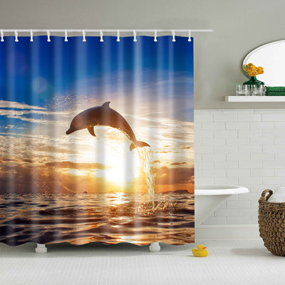 "Image of Decorative Shower Curtain ""Natura"""