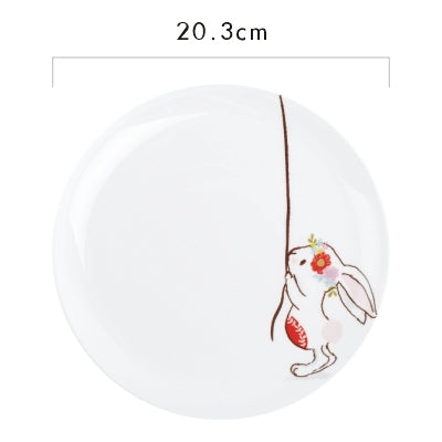 "Image of ""Rabbit"" Ceramic Plates"