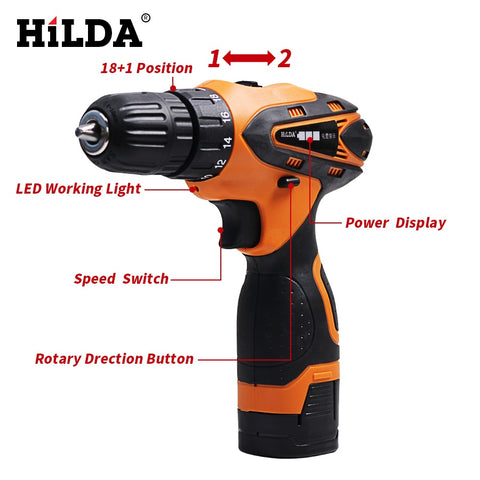 Image of 16.8V Electric  Cordless Screwdriver - Lithium Battery