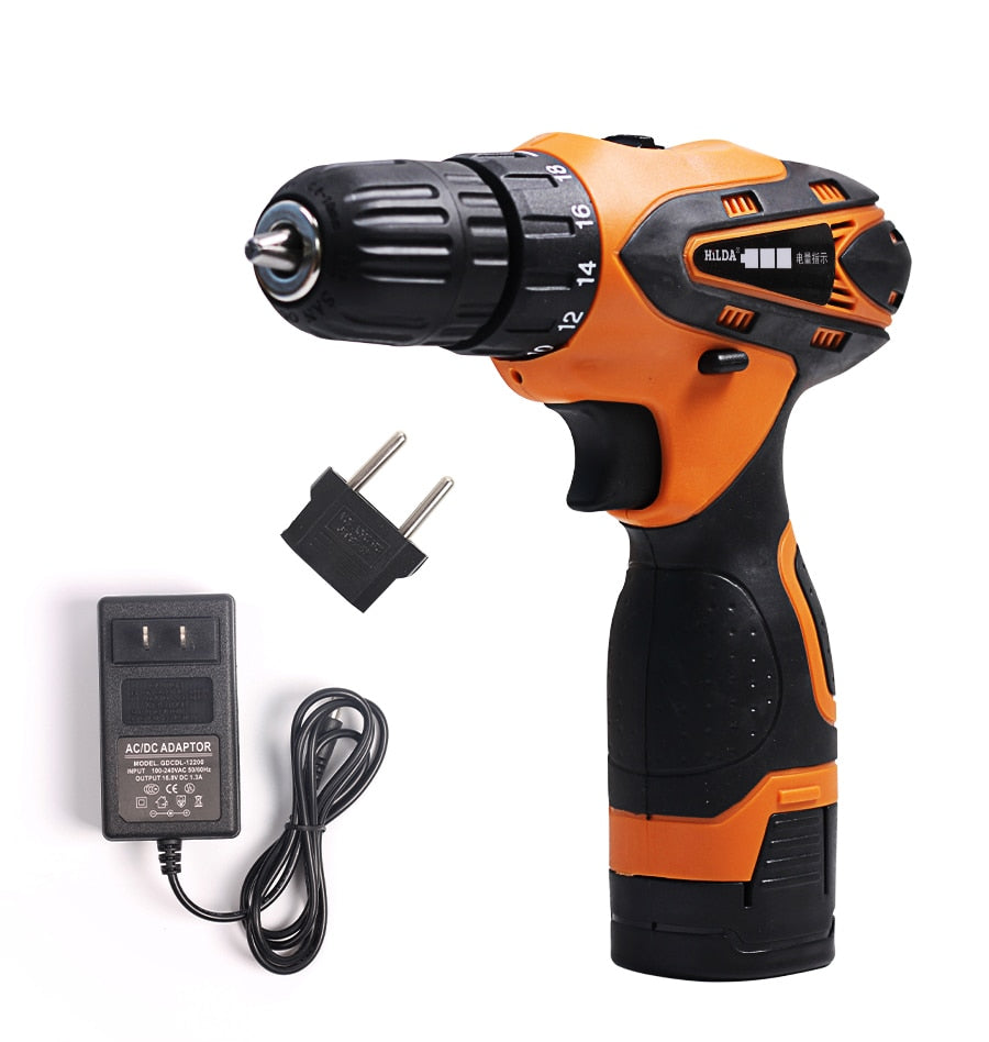 16.8V Electric  Cordless Screwdriver - Lithium Battery