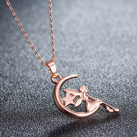 "Image of Necklace ""Fairy On The Moon"""