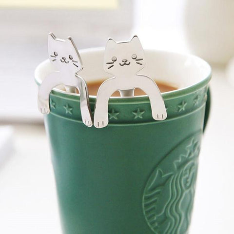 Image of Cute Hanging Cat Spoon