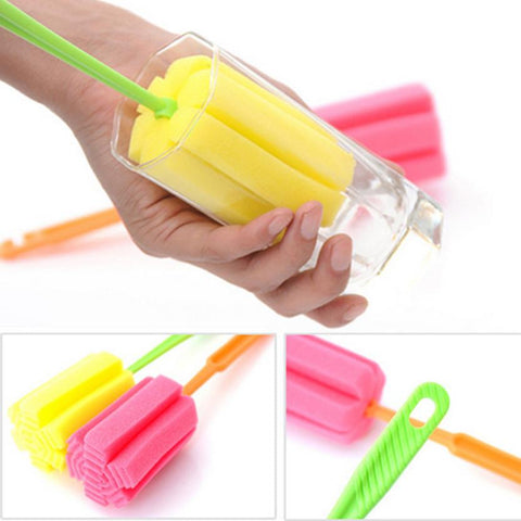 Image of Kitchen Cleaning Tool Sponge Brush For Wine Glass