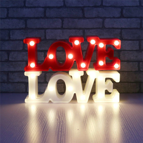 "Image of Romantic 3D LED Night Lamp ""Love&Love"""