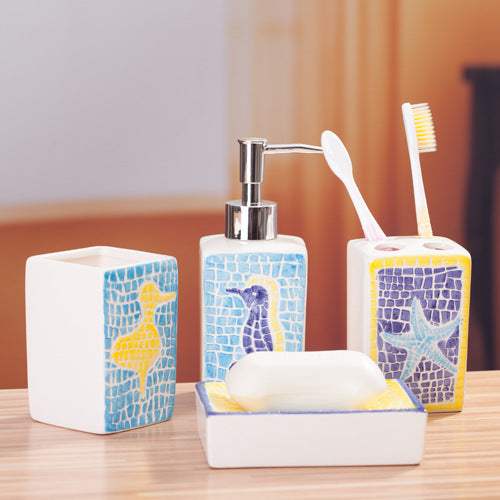 "Ceramic Bathroom Set ""Marine"""