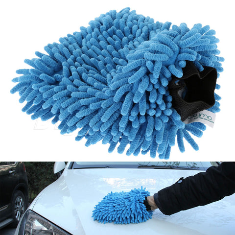 Microfiber Car Cleaning Soft Gloves