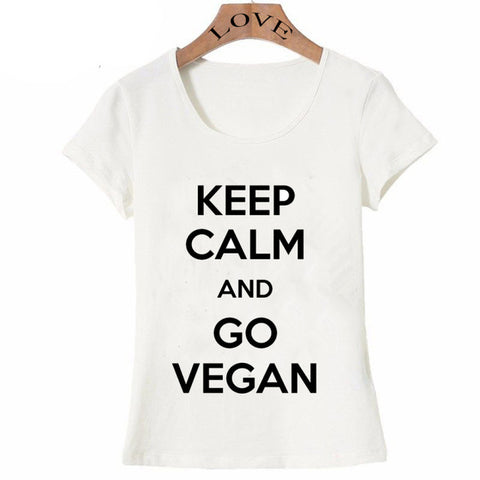 Creative T-Shirts With Vegan Print