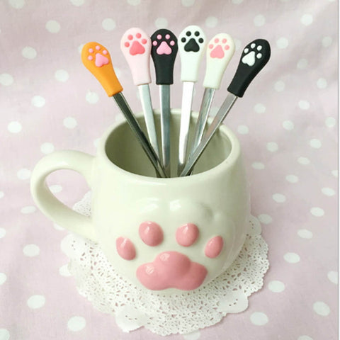 Cute Cat Claw Desert Spoons
