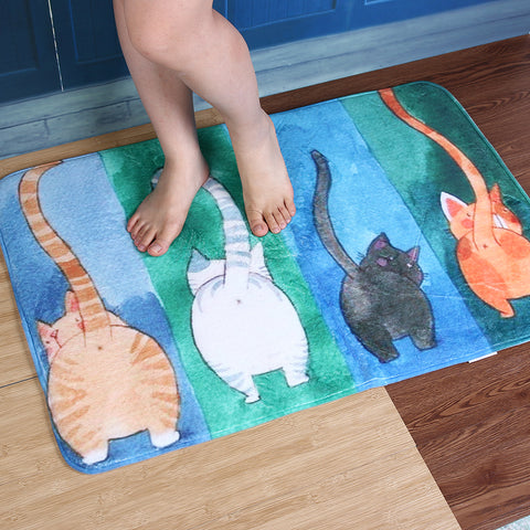 Image of Floor Carpet With Cats