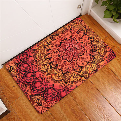 Image of Mandala Pattern Bath Rug