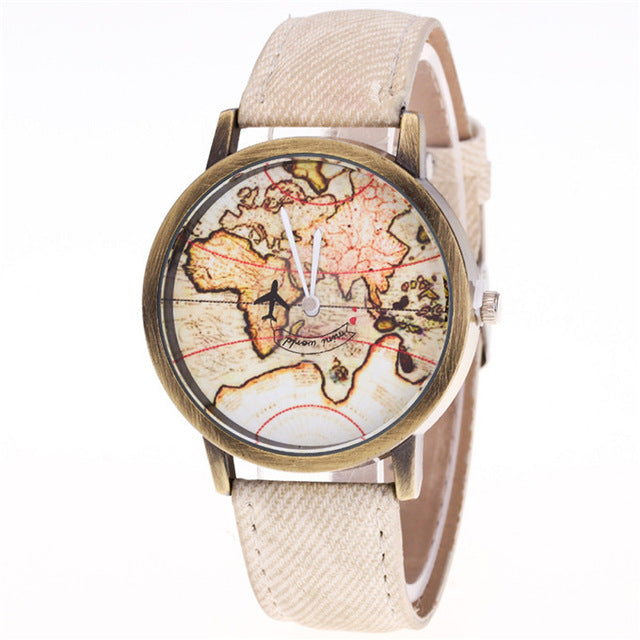 """World Map"" Ladies Watches"