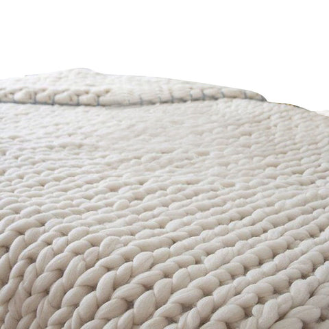 Image of Chunky Knitted Blanket - 100X80cm