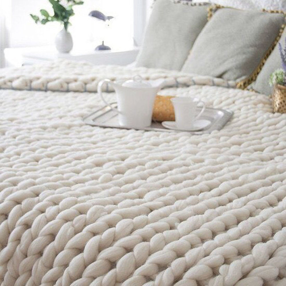 Chunky Knitted Blanket - 100X80cm