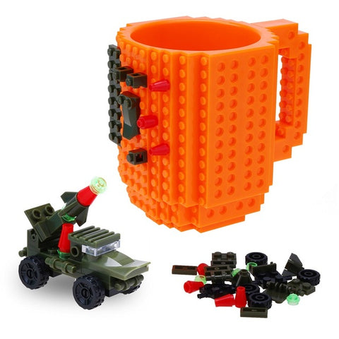 Image of Lego Coffee Mug with DIY Block Puzzle