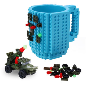 Lego Coffee Mug with DIY Block Puzzle