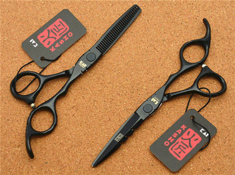 Image of Black Color Hairdressing Scissors