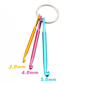 Crochet Needles Hooks in Colorful Aluminum - 3PCs/set