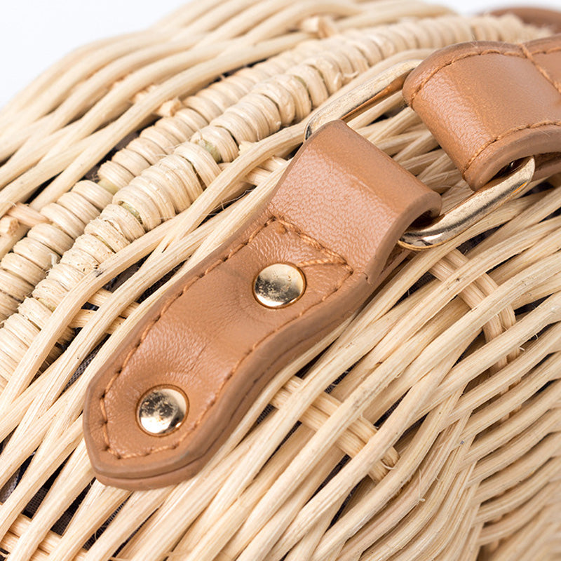 """Lucy"" Summer Straw Bag for Women"