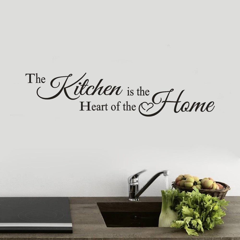 The Kitchen Is The Heart of The Home Wall Sticker