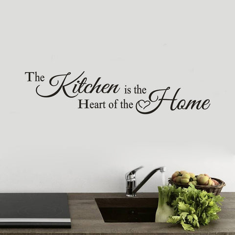 Image of The Kitchen Is The Heart of The Home Wall Sticker