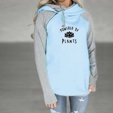 "Women Hoodies ""Powered By Plants"""