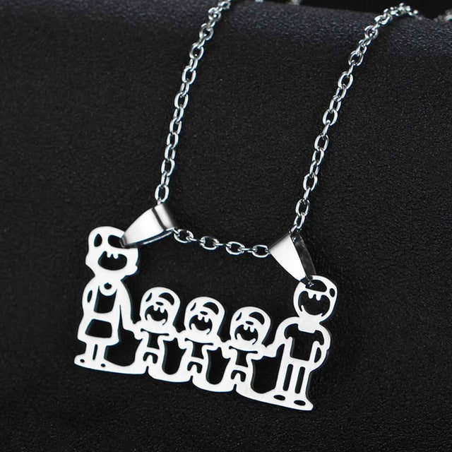 "Charm Necklace ""My Family"""
