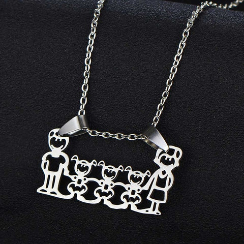 "Image of Charm Necklace ""My Family"""