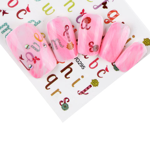 Image of Full Beauty Colorful Water Transfer Nail Sticker