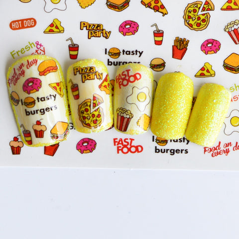 Full Beauty Colorful Water Transfer Nail Sticker