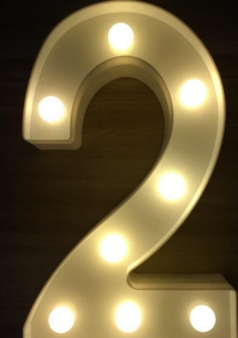 "Image of Luminous LED Letter, Night Light ""Alphabet"""