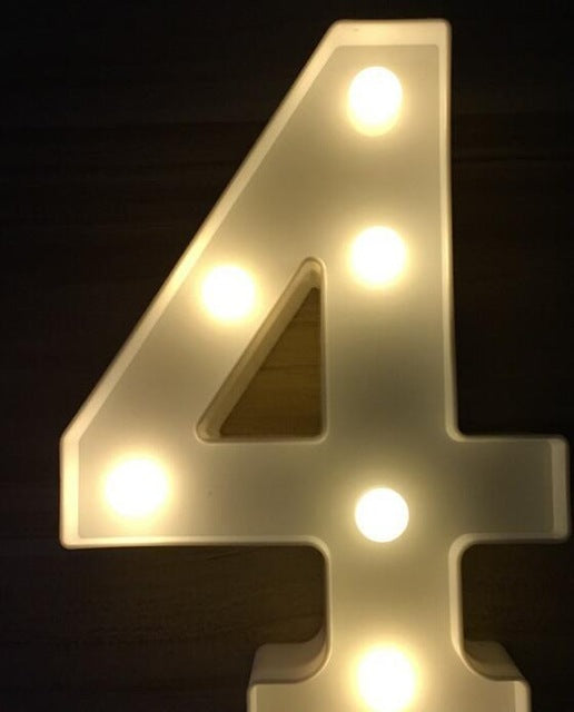 "Luminous LED Letter, Night Light ""Alphabet"""
