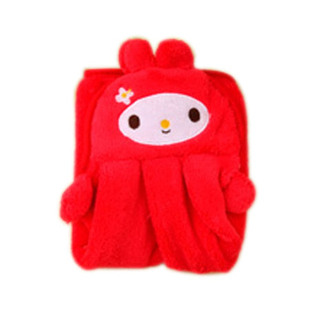 Soft Coral Velvet Cartoon Towel