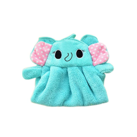 Image of Soft Coral Velvet Cartoon Towel