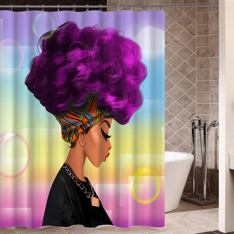 "Image of Shower Curtains ""African"""