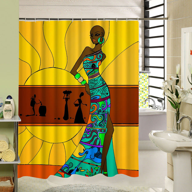 "Shower Curtains ""African"""