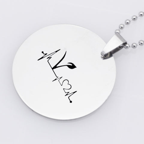 "Image of ""Vegetarian Life"" Pendant Necklace"