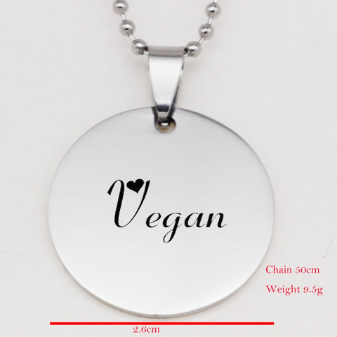 """Vegan Heart"" Pendant Necklace"