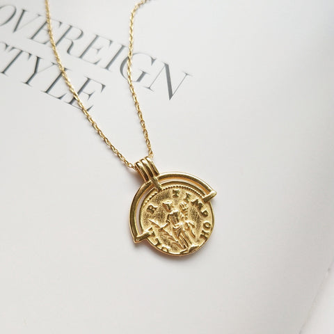 Image of Girl Figure Pendant Necklace