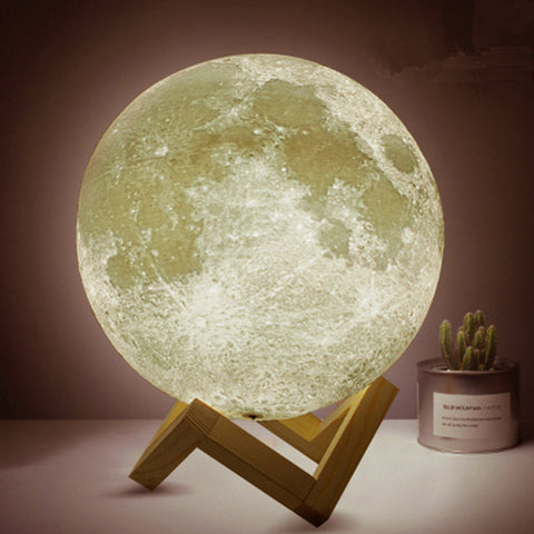 Image of 3D Printing Moon Lamp 8cm USB Led Touch Light