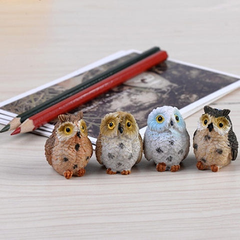 Image of Owl Resin Fairy DIY Decor