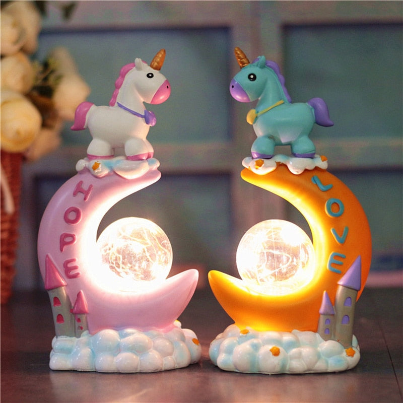 Magic Unicorn Resin LED Light