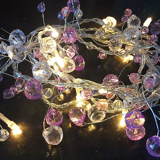 Fairy Crystal Bead String Light Christmas Tree