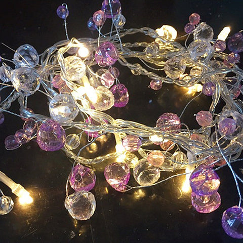 Image of Fairy Crystal Bead String Light Christmas Tree